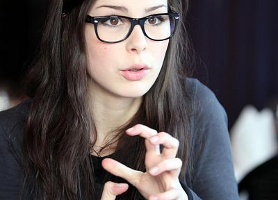 women, glasses, Lena Meyer-Landrut, girls with glasses - desktop wallpaper
