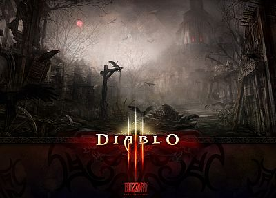 video games, Diablo III - random desktop wallpaper