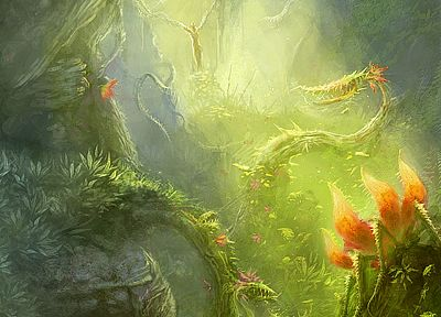 nature, CGI, fantasy art, artwork - related desktop wallpaper