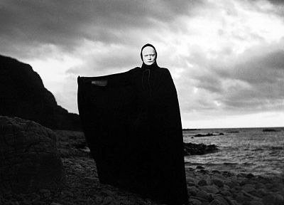 death, chess, monochrome, The Seventh Seal - related desktop wallpaper