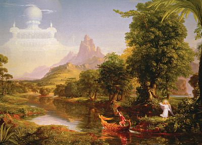 paintings, Thomas Cole, The Voyage of Life - random desktop wallpaper