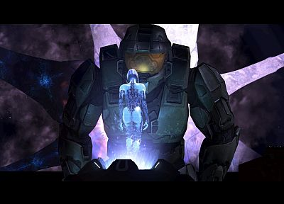 Cortana, Halo, Master Chief, screenshots - related desktop wallpaper