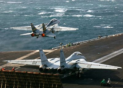 aircraft, military, navy, vehicles, aircraft carriers, F-14 Tomcat - random desktop wallpaper