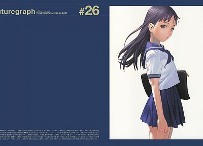 school uniforms, Range Murata, Futuregraph, simple background, sailor uniforms - related desktop wallpaper
