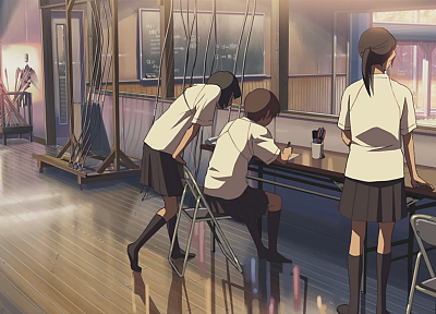 school, Makoto Shinkai, 5 Centimeters Per Second, artwork, anime - desktop wallpaper