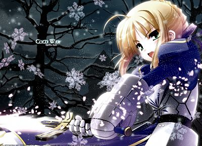 Fate/Stay Night, anime, Saber, Fate series - related desktop wallpaper