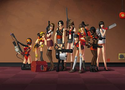 rule 63, Team Fortress 2 - random desktop wallpaper