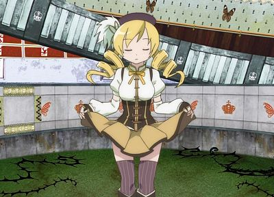 blondes, Mahou Shoujo Madoka Magica, Tomoe Mami, anime, anime girls - related desktop wallpaper
