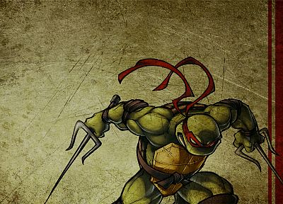 cartoons, grunge, Teenage Mutant Ninja Turtles, raphael - related desktop wallpaper