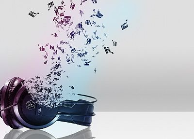 headphones, abstract, music - related desktop wallpaper