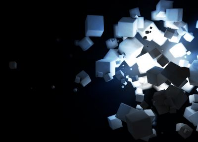 light, black, minimalistic, dark, white, sugar, cubes - random desktop wallpaper