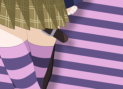 Shirayuki Mizore, Rosario to Vampire, striped legwear - related desktop wallpaper