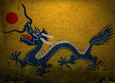 dragons, China, graffiti - random desktop wallpaper