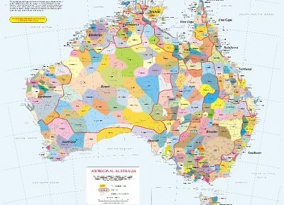 maps, infographics, Australia, aboriginals - random desktop wallpaper