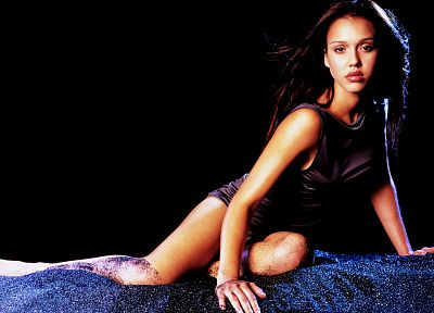 brunettes, women, Jessica Alba, actress - random desktop wallpaper