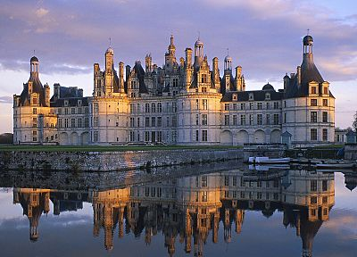 landscapes, castles, architecture, France, historic, reflections - related desktop wallpaper