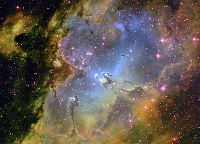 outer space, nebulae, Eagle nebula - desktop wallpaper