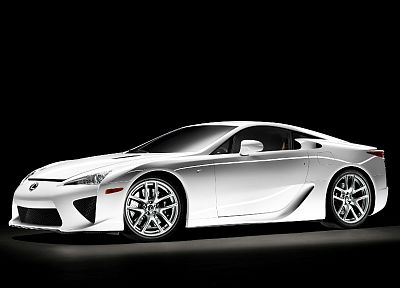 cars, Lexus, vehicles, Lexus LFA, black background - desktop wallpaper