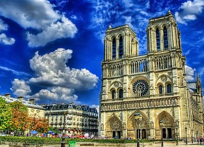 Paris, cathedrals, HDR photography - desktop wallpaper