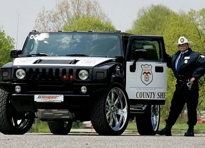 vehicles, Hummer, police cars - desktop wallpaper