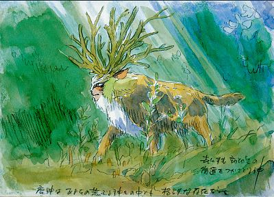 Princess Mononoke, Japanese, artwork - related desktop wallpaper