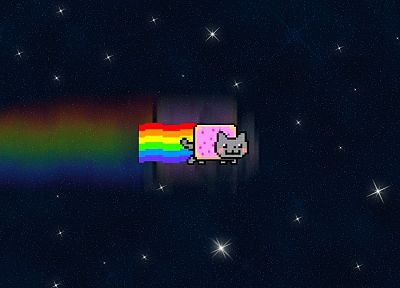 outer space, Nyan Cat - related desktop wallpaper