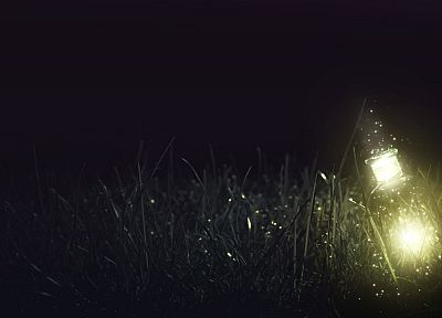 light, grass, fantasy art, artwork, magical, photo manipulation - random desktop wallpaper