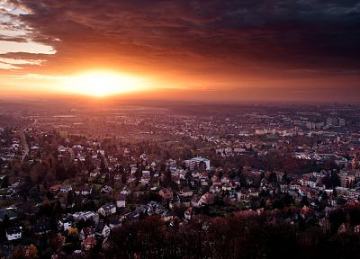 sunset, cityscapes, buildings - related desktop wallpaper