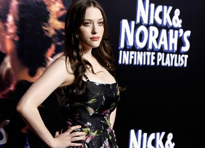 brunettes, women, movies, actress, cleavage, celebrity, Kat Dennings - related desktop wallpaper