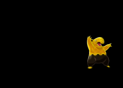 Pokemon, simple background, Drowzee, black background - desktop wallpaper