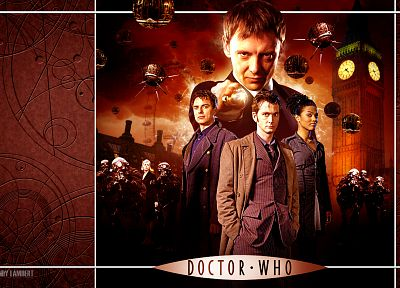 David Tennant, Big Ben, The Master, Doctor Who, John Simm, John Barrowman, Freema Agyeman, Martha Jones, Tenth Doctor, Jack Harkness - related desktop wallpaper