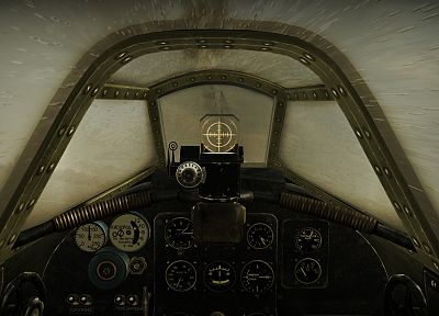 video games, aircraft, cockpit, World War II, IL-2 Shturmovik - desktop wallpaper