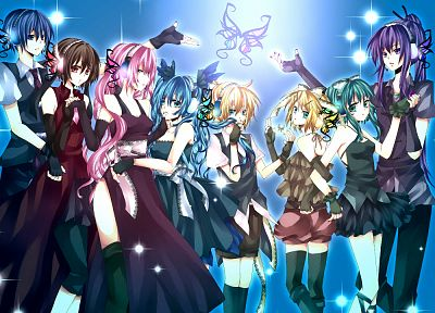 Vocaloid, Hatsune Miku, Megurine Luka, Kaito (Vocaloid), Kagamine Rin, Kagamine Len, Megpoid Gumi, Meiko, anime girls, Kamui Gakupo, Magnet (Vocaloid) - related desktop wallpaper