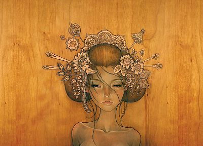 paintings, Audrey Kawasaki, digital art - desktop wallpaper