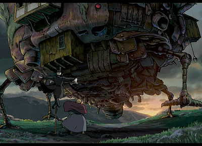 Hayao Miyazaki, Studio Ghibli, Howl's Moving Castle - random desktop wallpaper