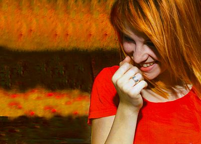 Hayley Williams, Paramore, women, music, celebrity, smiling, singers - random desktop wallpaper