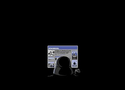 Star Wars, Facebook, stormtroopers, Darth Vader, funny, black background - related desktop wallpaper