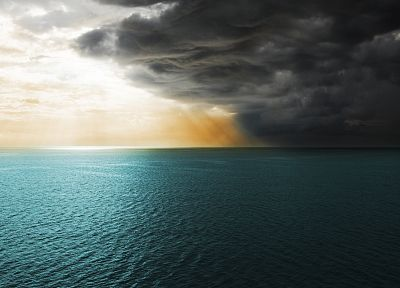ocean, clouds - random desktop wallpaper