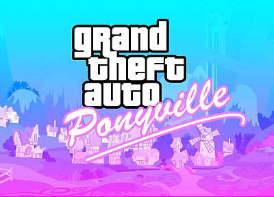 Grand Theft Auto, ponies, Grand Theft Auto Vice City, My Little Pony: Friendship is Magic, Ponyville - desktop wallpaper