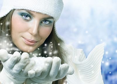 women, winter, snow - related desktop wallpaper