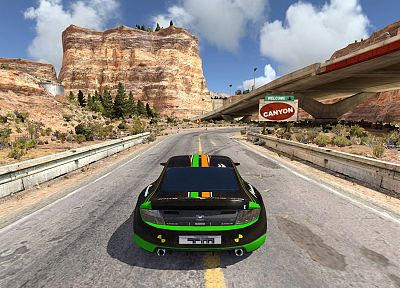 video games, canyon, track, Trackmania 2, racing cars - related desktop wallpaper
