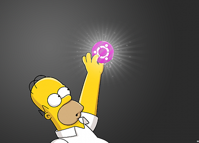 Linux, Ubuntu, Homer Simpson - random desktop wallpaper