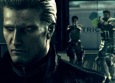 Resident Evil, wesker, Shiva, Chris Redfield, Albert Wesker, Sheva Alomar - random desktop wallpaper
