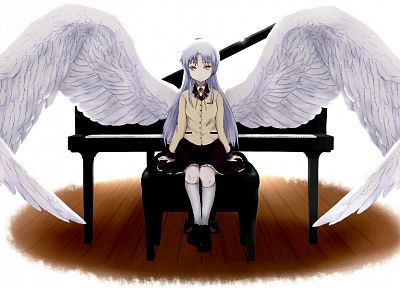 wings, Angel Beats!, school uniforms, Tachibana Kanade - random desktop wallpaper
