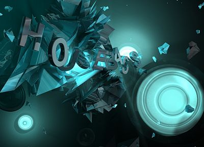 abstract, music, lights, typography, sound, dubstep, 3D - related desktop wallpaper