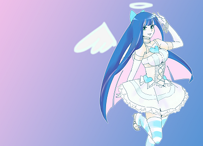 Panty and Stocking with Garterbelt, Anarchy Stocking, striped legwear - random desktop wallpaper