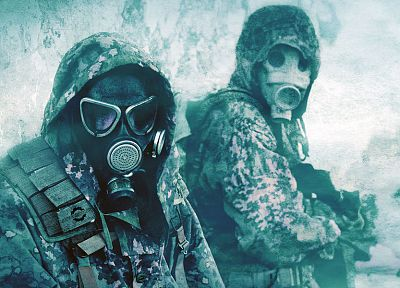 military, gas masks, camouflage - random desktop wallpaper