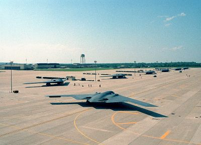 aircraft, military, bomber, B-2 Spirit - random desktop wallpaper