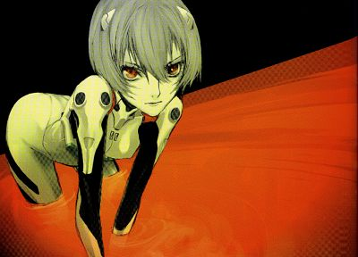 Ayanami Rei, Neon Genesis Evangelion, red eyes, anime girls - random desktop wallpaper