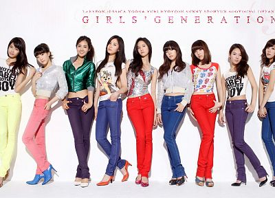 women, jeans, Girls Generation SNSD, celebrity, high heels - random desktop wallpaper